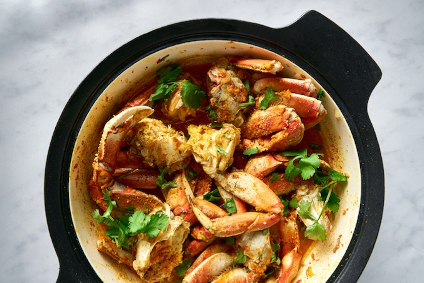 One Pot Spiced Alaskan Crab