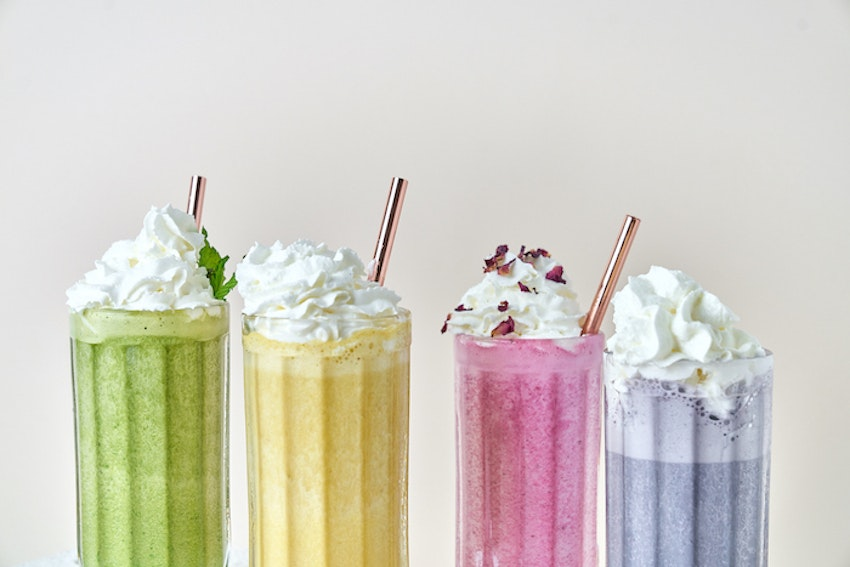 Rainbow Wellness Milkshakes