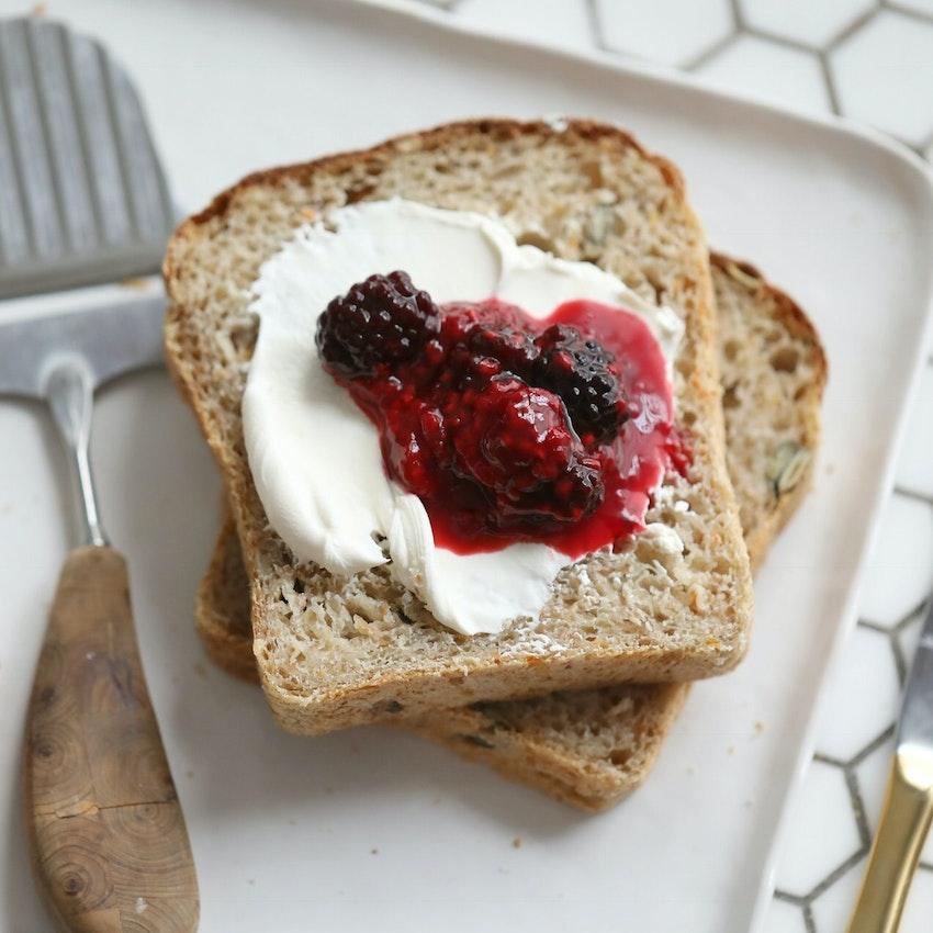 Norwegian Breakfast Bread with Homemade Jam
