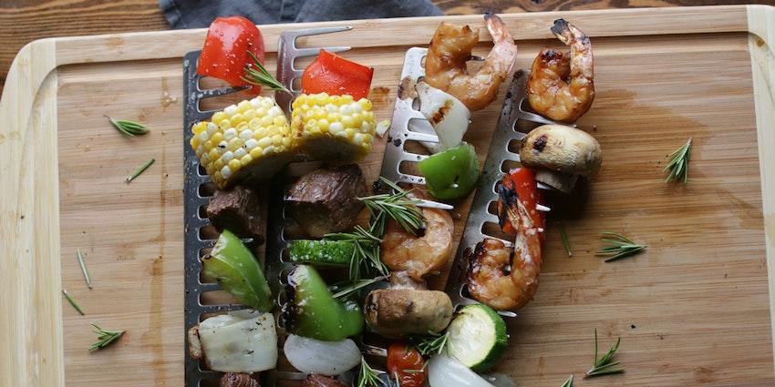 Beef & Shrimp Kebabs