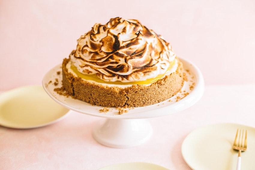 No Bake Lemon Meringue Cheesecake