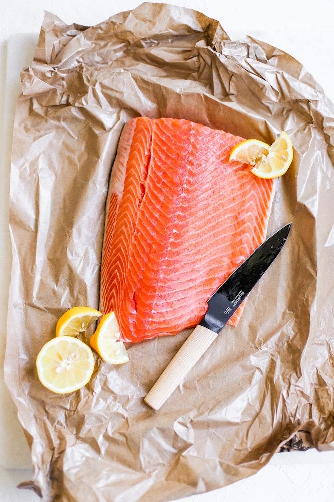 Lemon Herb Salmon Skewers 1