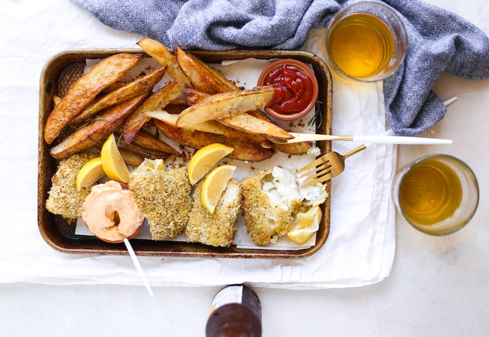 Lightened Up Fish & Chips: A Healthier Weeknight Staple