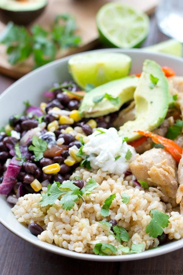 Mexican Chicken Fajita Rice Bowls2