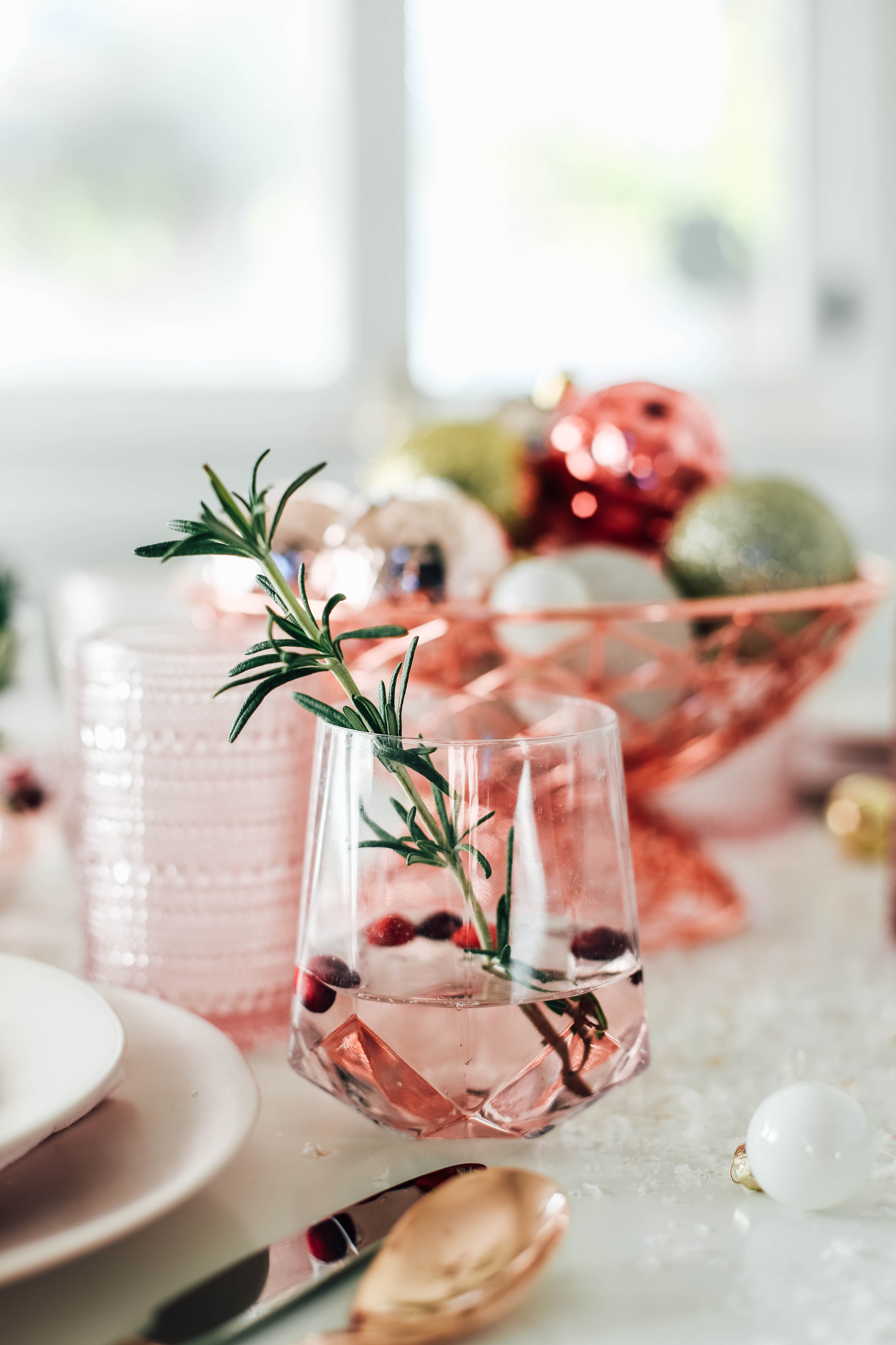 Millennial Pink Table Setting 18