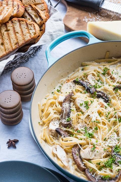 Mushroom Chicken Pasta 04