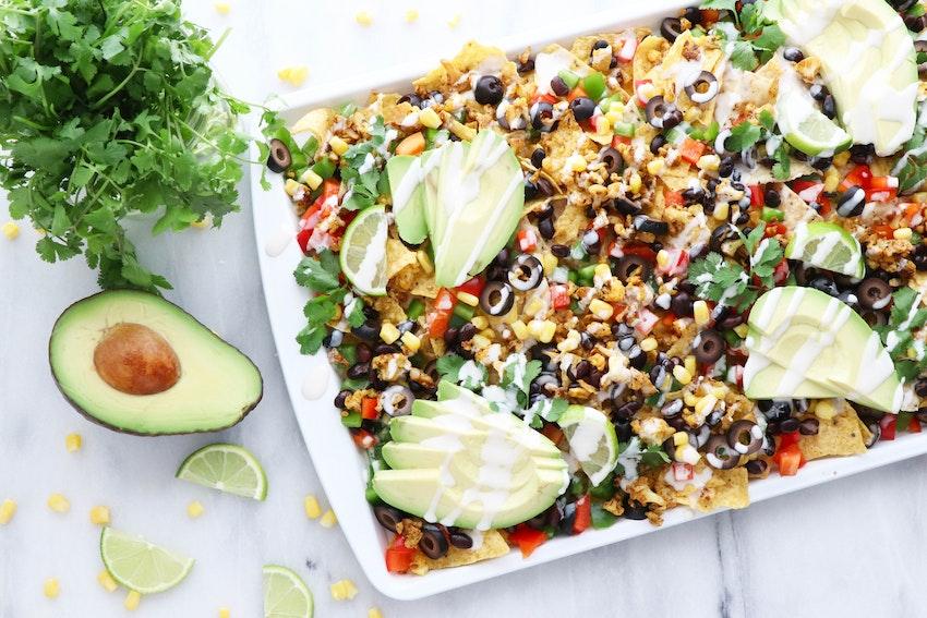 Your New Favorite Healthy Super Bowl Snack: Loaded Vegan Nachos