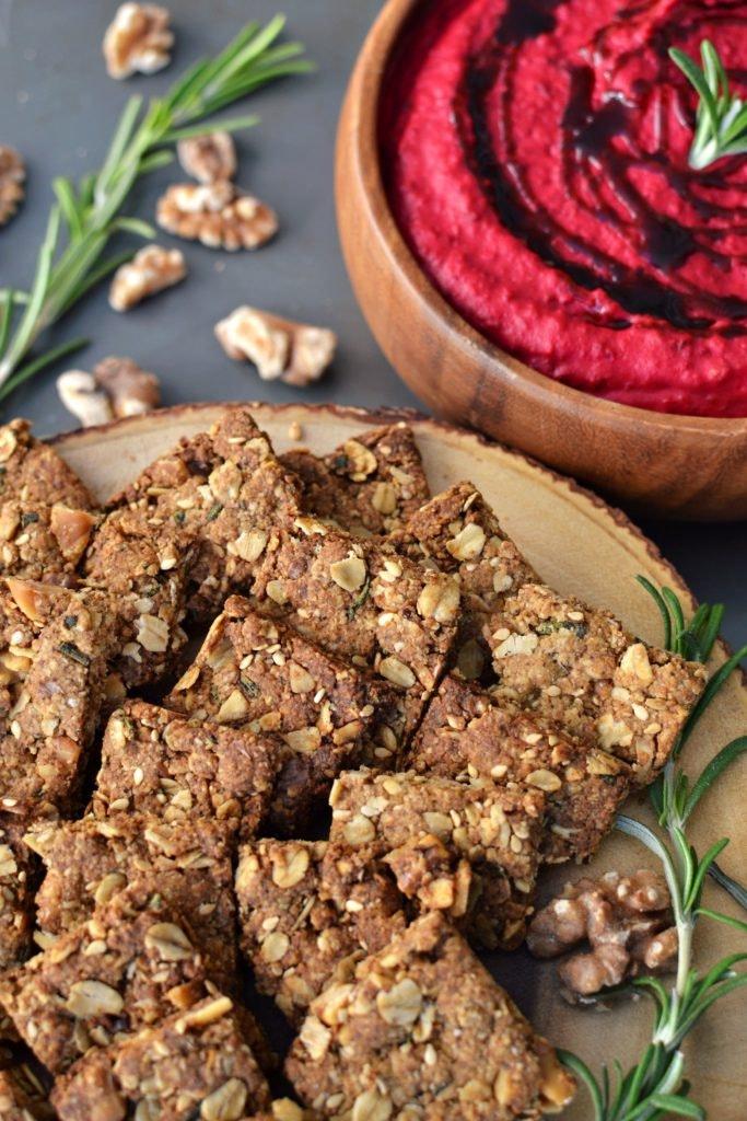 Oat Crackers Beet Hummus 4 683X1024