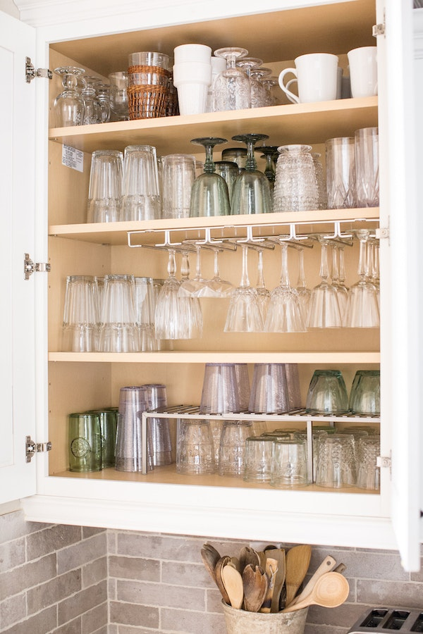 How To Organize Your Glassware Cabinet Once And For All The Inspired Home
