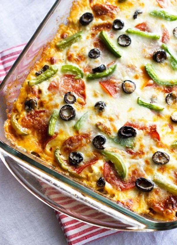 Zucchini Pizza Lasagna