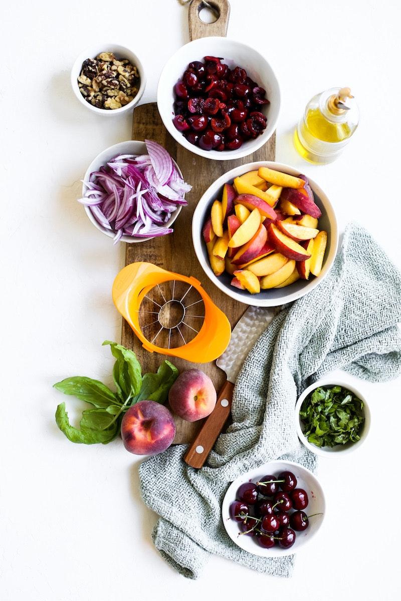 Peach And Cherry Panzanella 1