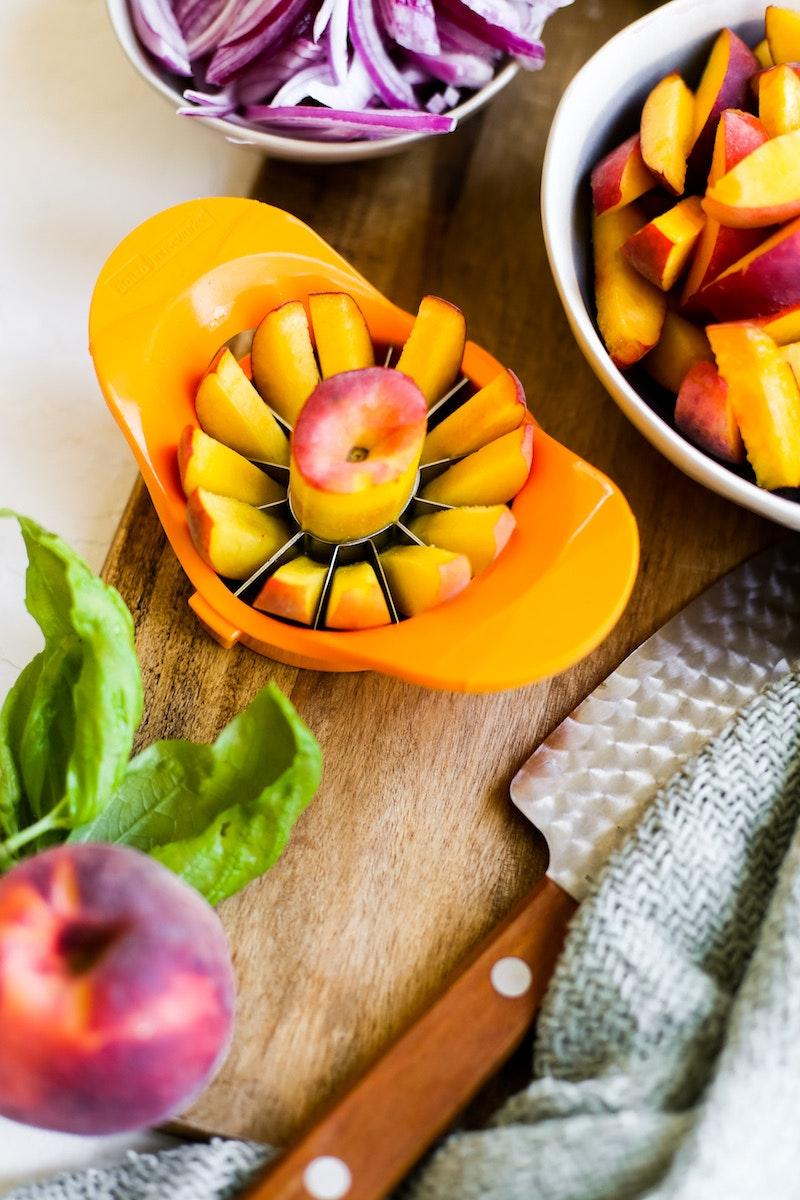 Peach And Cherry Panzanella 3