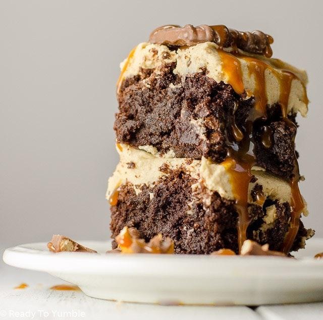 Peanut Butter Bourbon Brownies 4 2
