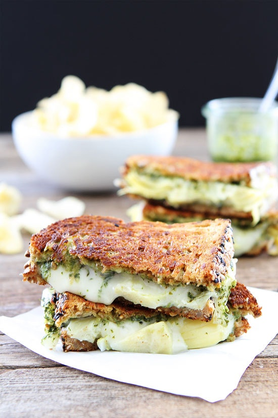 Pesto Artichoke Havarti Grilled Cheese 1
