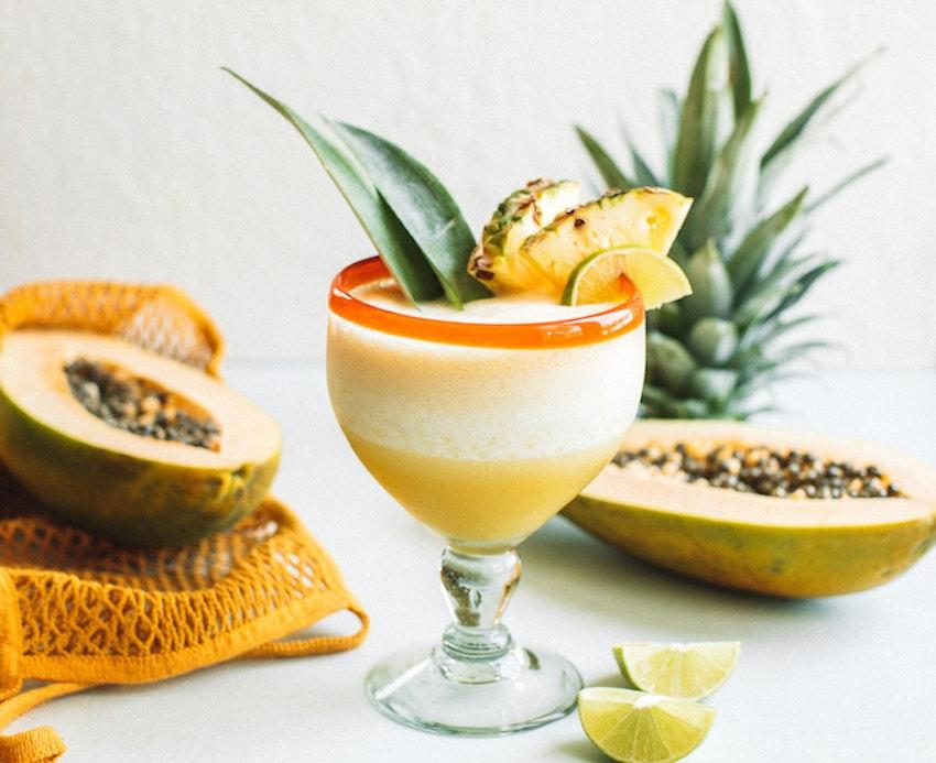 Frozen Pineapple Papaya Margaritas