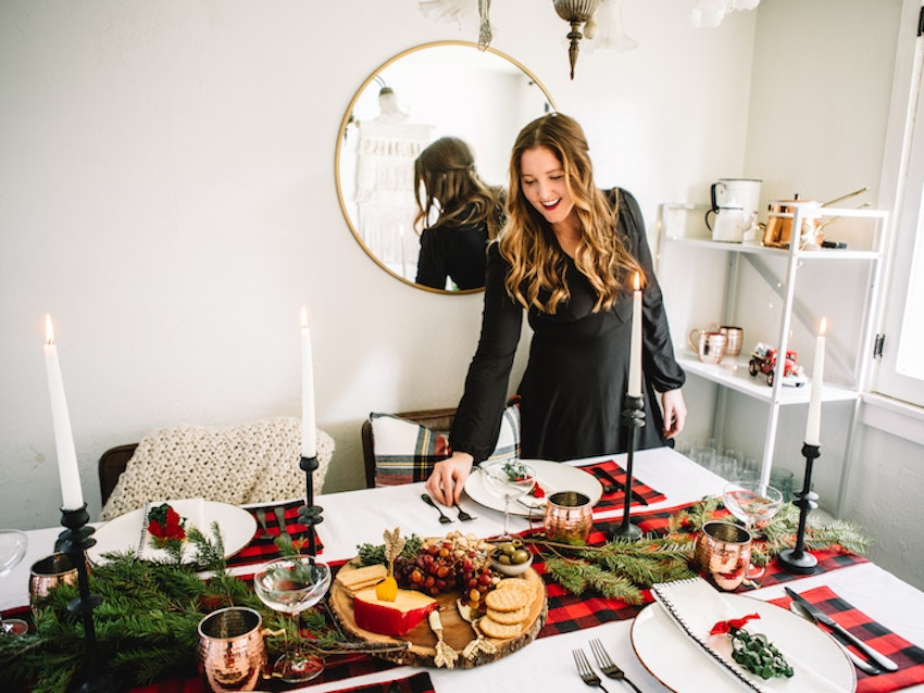 We're Mad for This Plaid Holiday Tablescape
