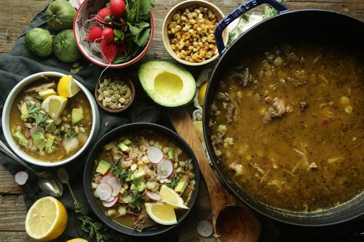 Authentic Pork Pozole Verde Soup