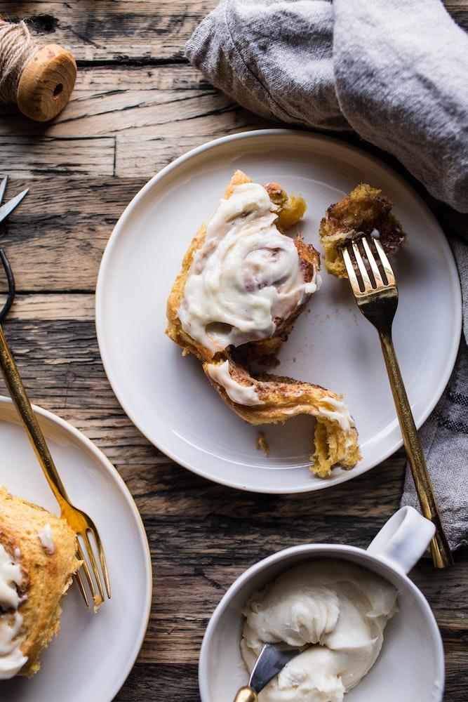 Pumpkin Cinnamon Rolls With Vanilla Spice Cream Cheese Frosting 11 Resize