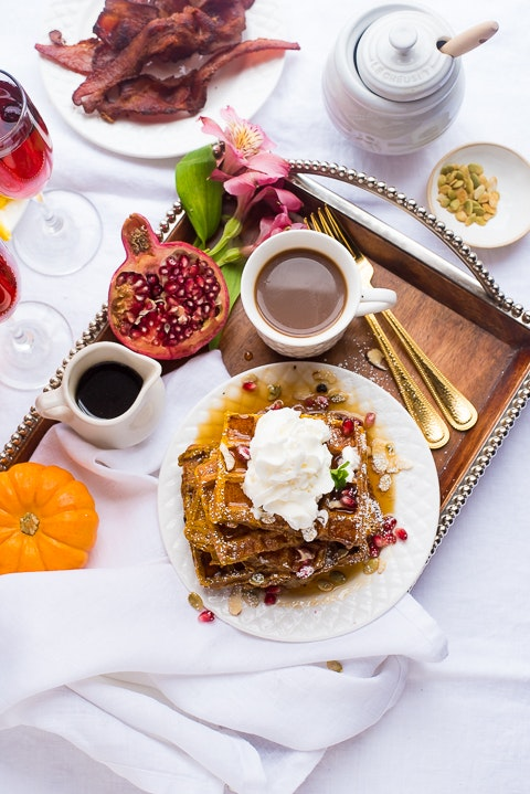 Pumpkin French Toast Waffles 09