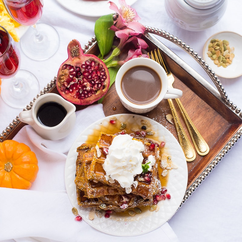 These Pumpkin French Toast Waffles Are the Fall Breakfast of Your Dreams