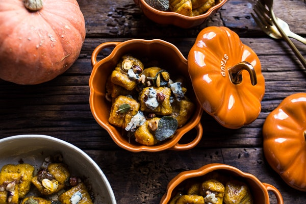 Pumpkin Gnocchi with Balsamic Sage & Blue Cheese Sauce