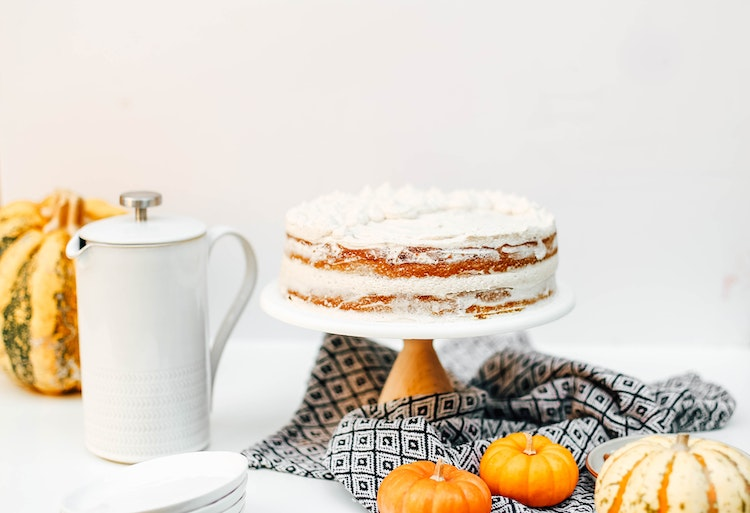 Pumpkin Layer Cake with Chai Cream Cheese Frosting