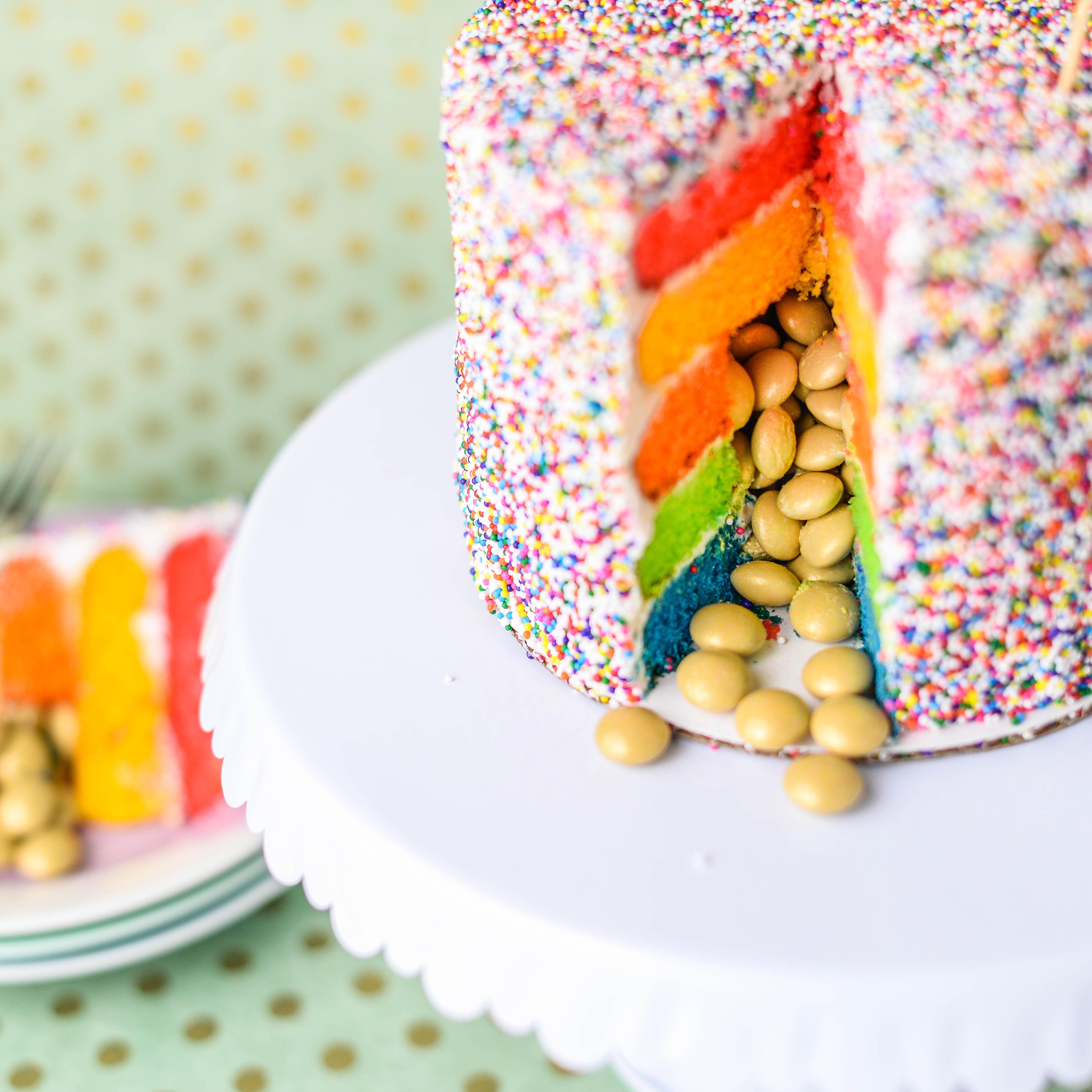 Rainbow Cake Peek