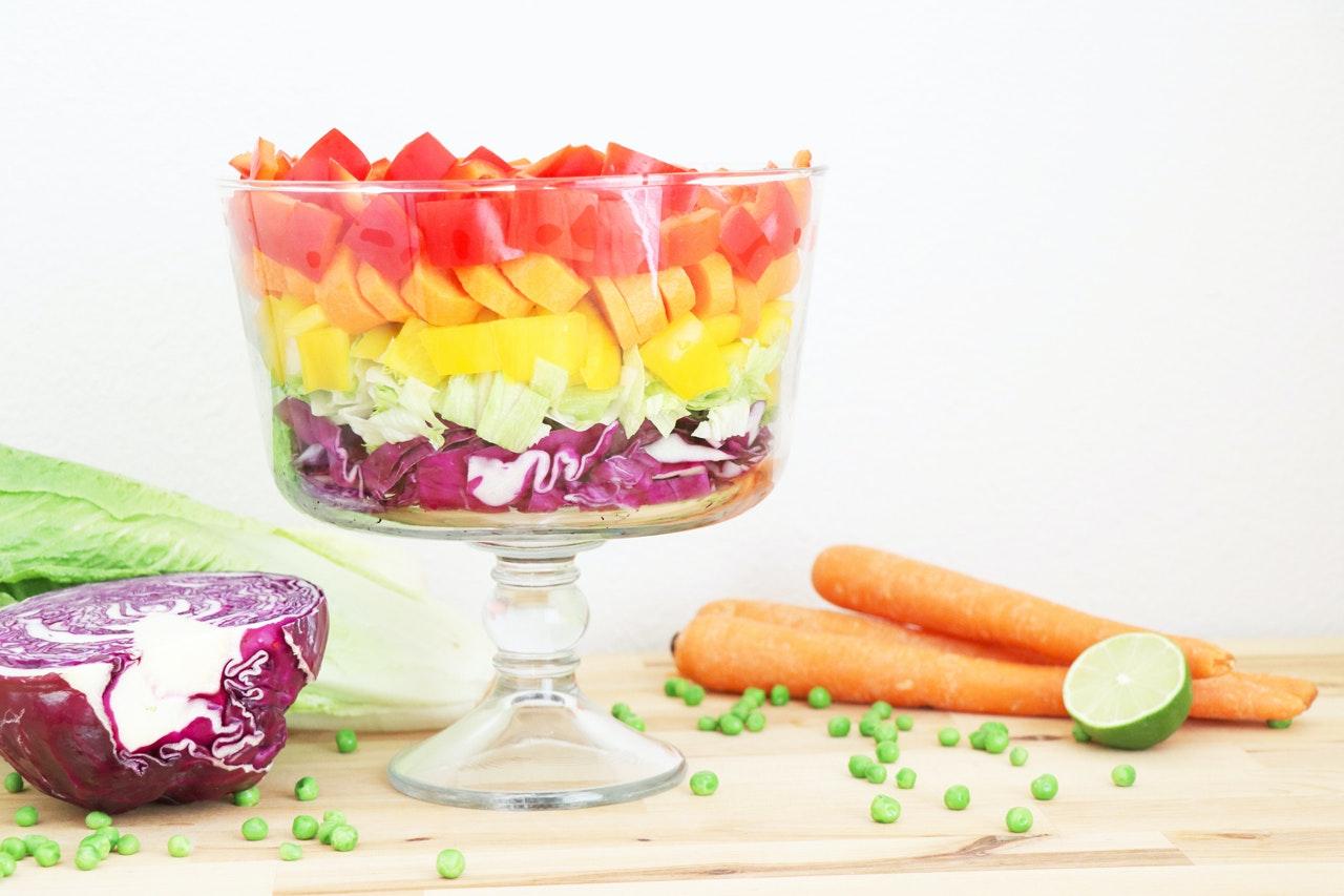 7 Layer Rainbow Salad Recipe