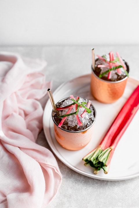 Seasonal Rhubarb Juleps for Derby Day