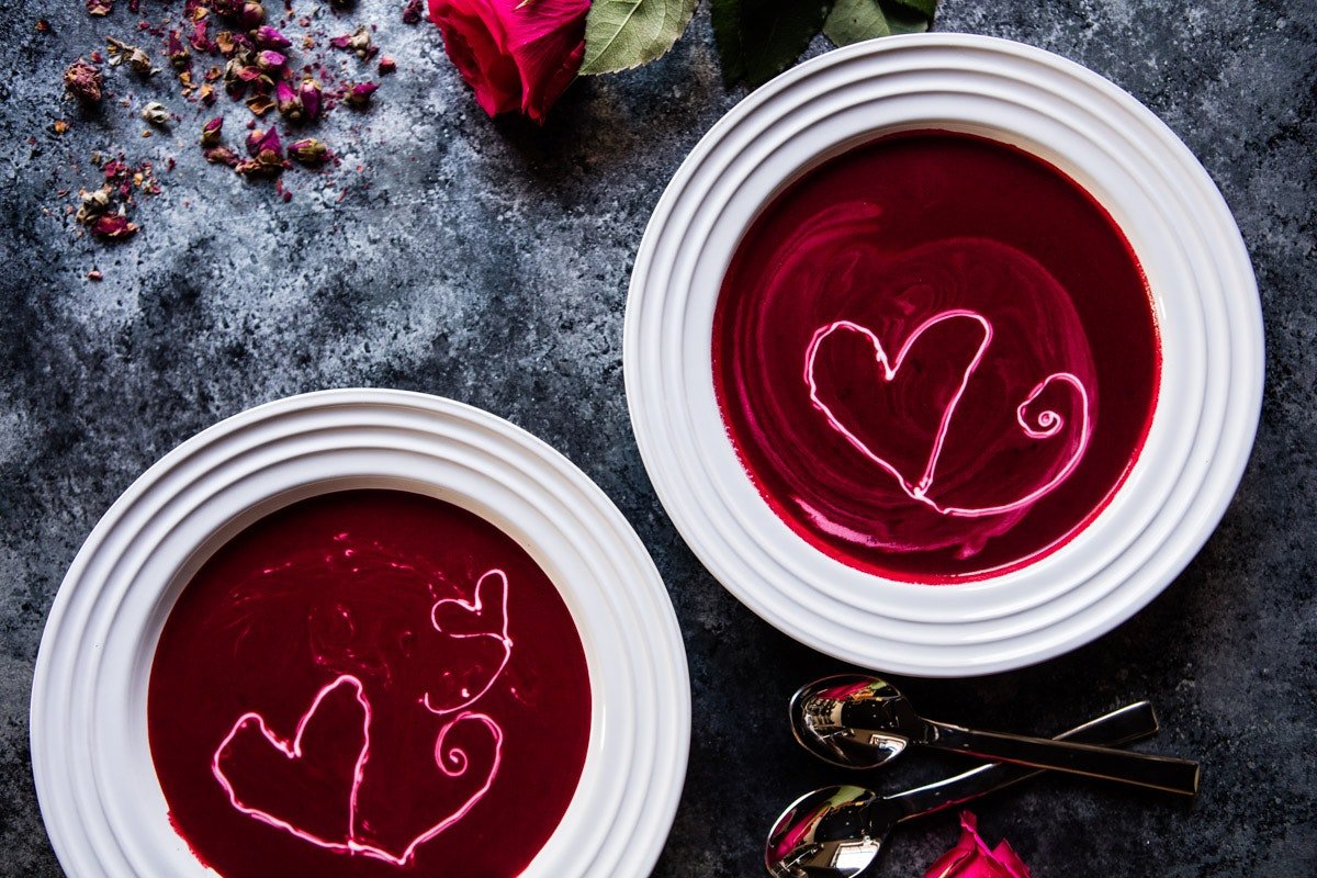 Roasted Beet And Goat Cheese Soup 5