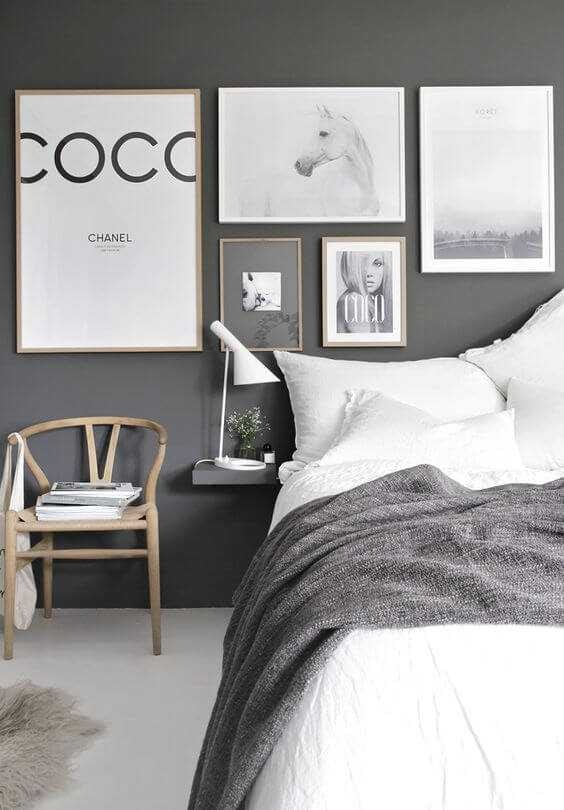 Scandinavian Grey Bedroom Inspired Home