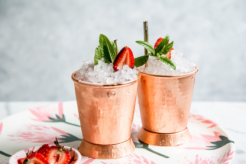 Lemon Verbena Strawberry Juleps