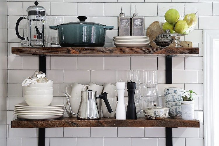 Decorating Exposed Shelves | Lindsay Gillen | The Inspired Home
