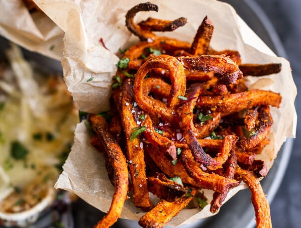 Skinny Tandoori Butter Sweet Potato Fries W Creamy Baked Harissa Feta 13