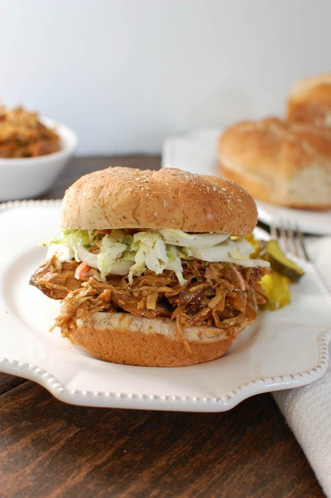 Slow-Cooker-BBQ-Pulled-Chicken-Sandwich-Cedar-Spoon