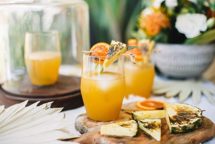 Smoky Pineapple Mezcal Margaritas
