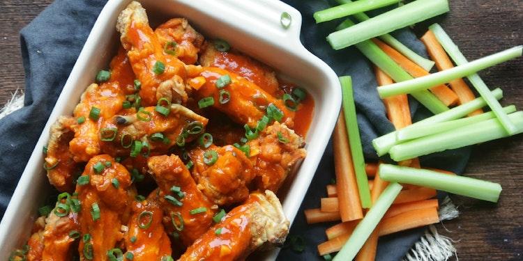 Spicy Garlic Fried Chicken Wings