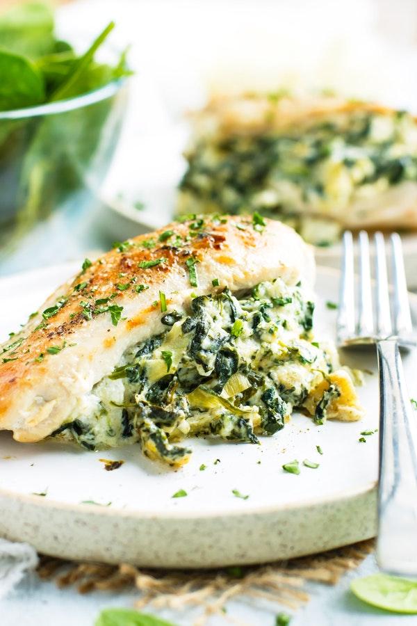 Spinach Artichoke Stuffed Chicken 2