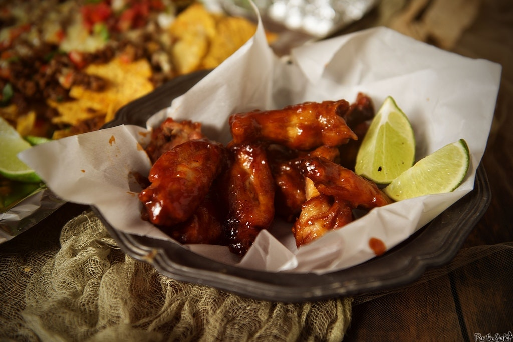 Sriracha And Bourbon Chicken Wings