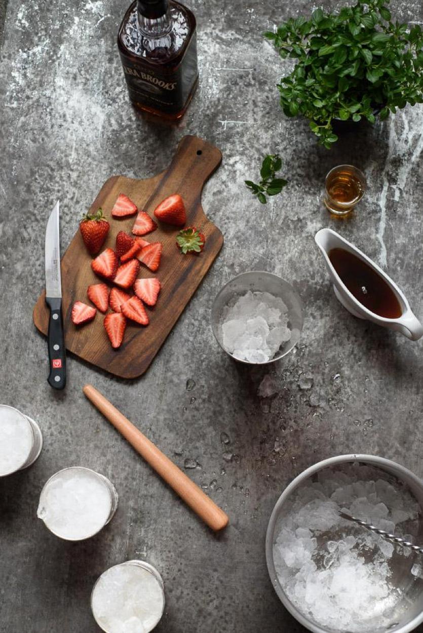 Strawberry Mint Julep Ingredients 2