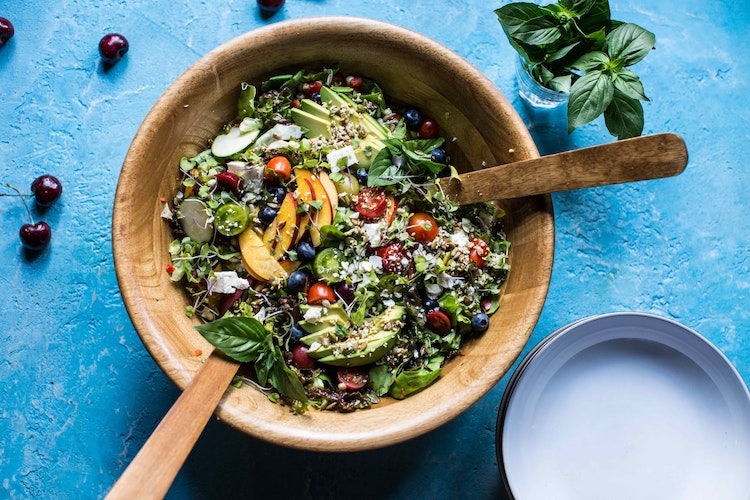 Summer Chopped Salad with Cherries