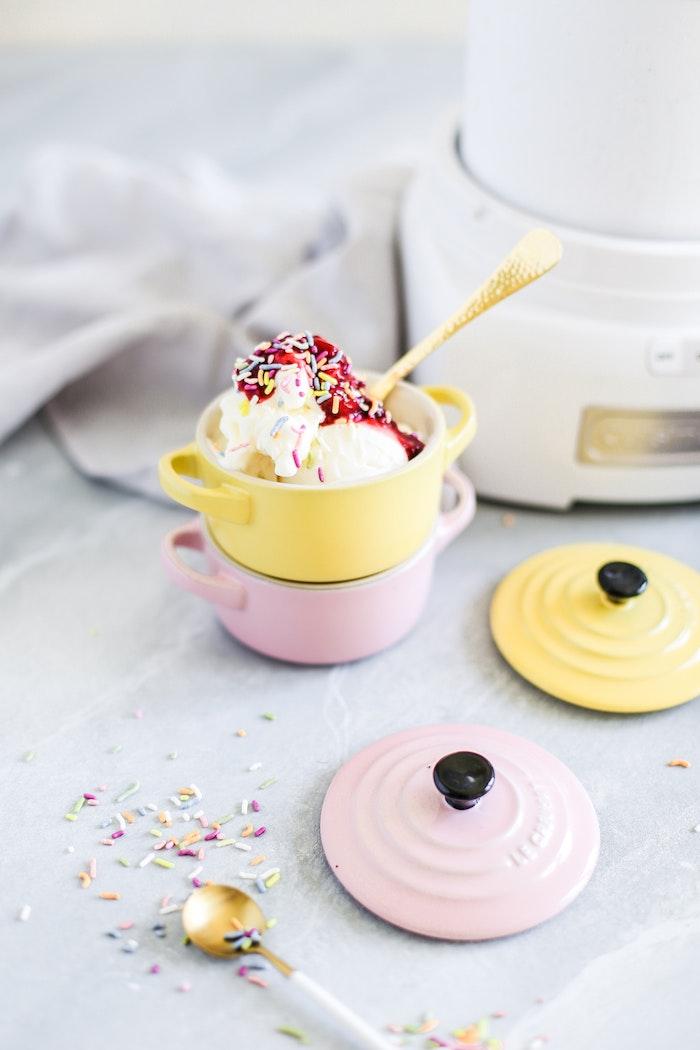 Homemade Vanilla Bean Frozen Yogurt