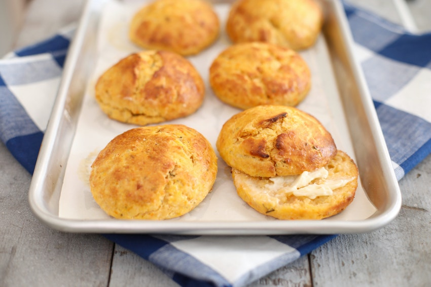 Sweet Potato & Rosemary Biscuits