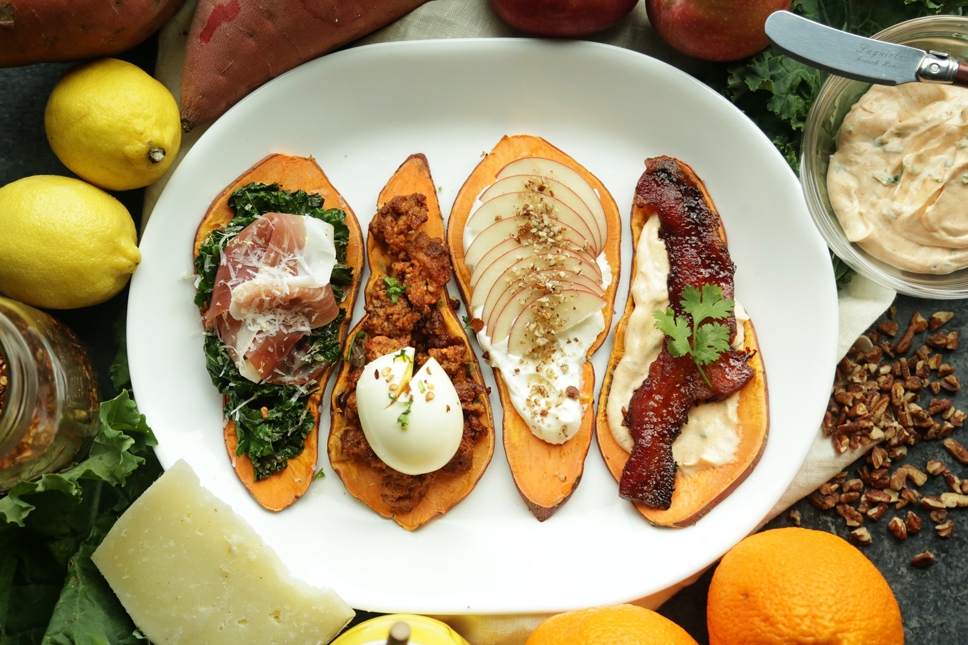 Sweet Potato Toast 4 Ways