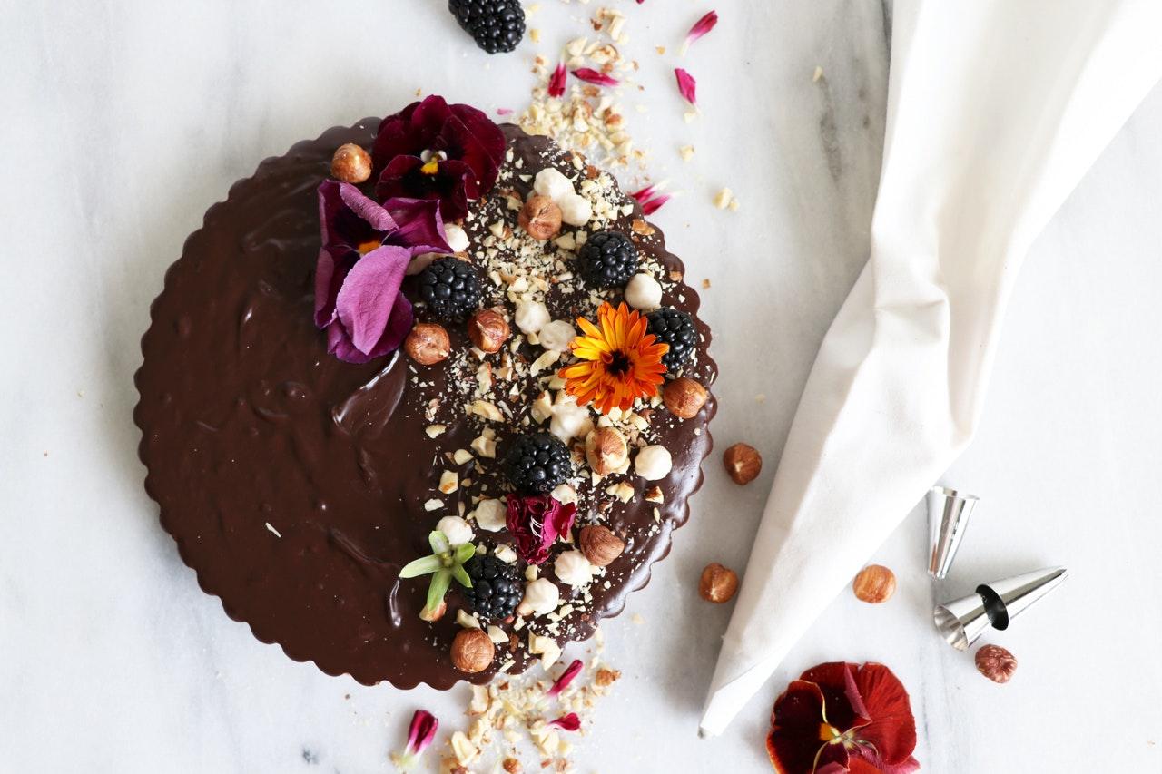 Healthy Chocolate Hazelnut Tart Recipe