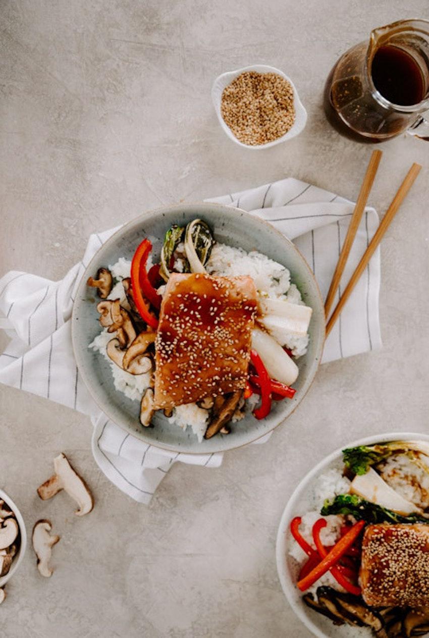30-Minute Teriyaki Salmon Bowls