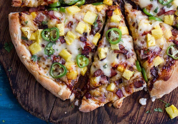 The Tj Hooker Pizza Chipotle Bbq And Sweet Chili Pineapple Jalapeño Pizza With Bacon 82