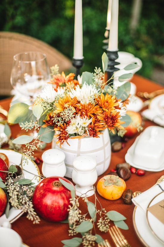 Traditional Modern Thanksgiving Table 1