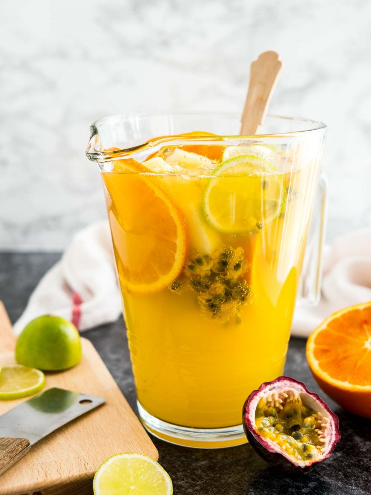 Tropical White Wine Sangria Plated Cravings 1 640X853@2X
