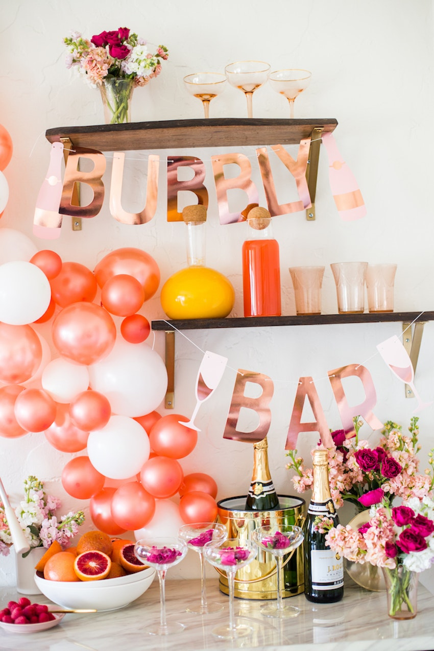 A Galentine's Day Champagne Bar Brunch